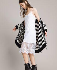 Kleid im Unterkleidstil mit Spitze Schwarz Frau 191TP260H-02