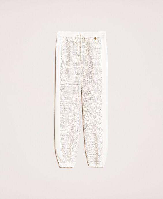 Pantaloni jogging in tessuto bouclé