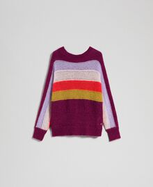 Multicolour stripe mohair jumper Multicolour Stripe Red Velvet Woman 192TT3272-0S