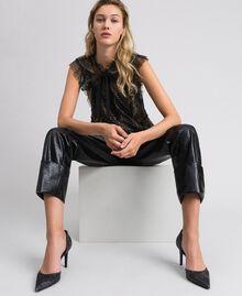 Pantaloni in similpelle Nero Donna 192TP2060-05