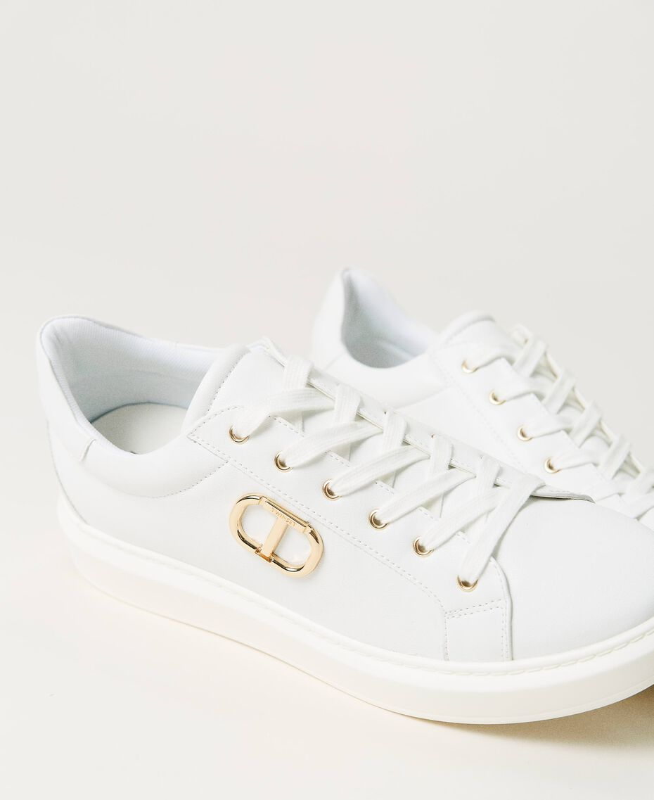 Sneakers con logo Bianco Donna 211TCT01A-02