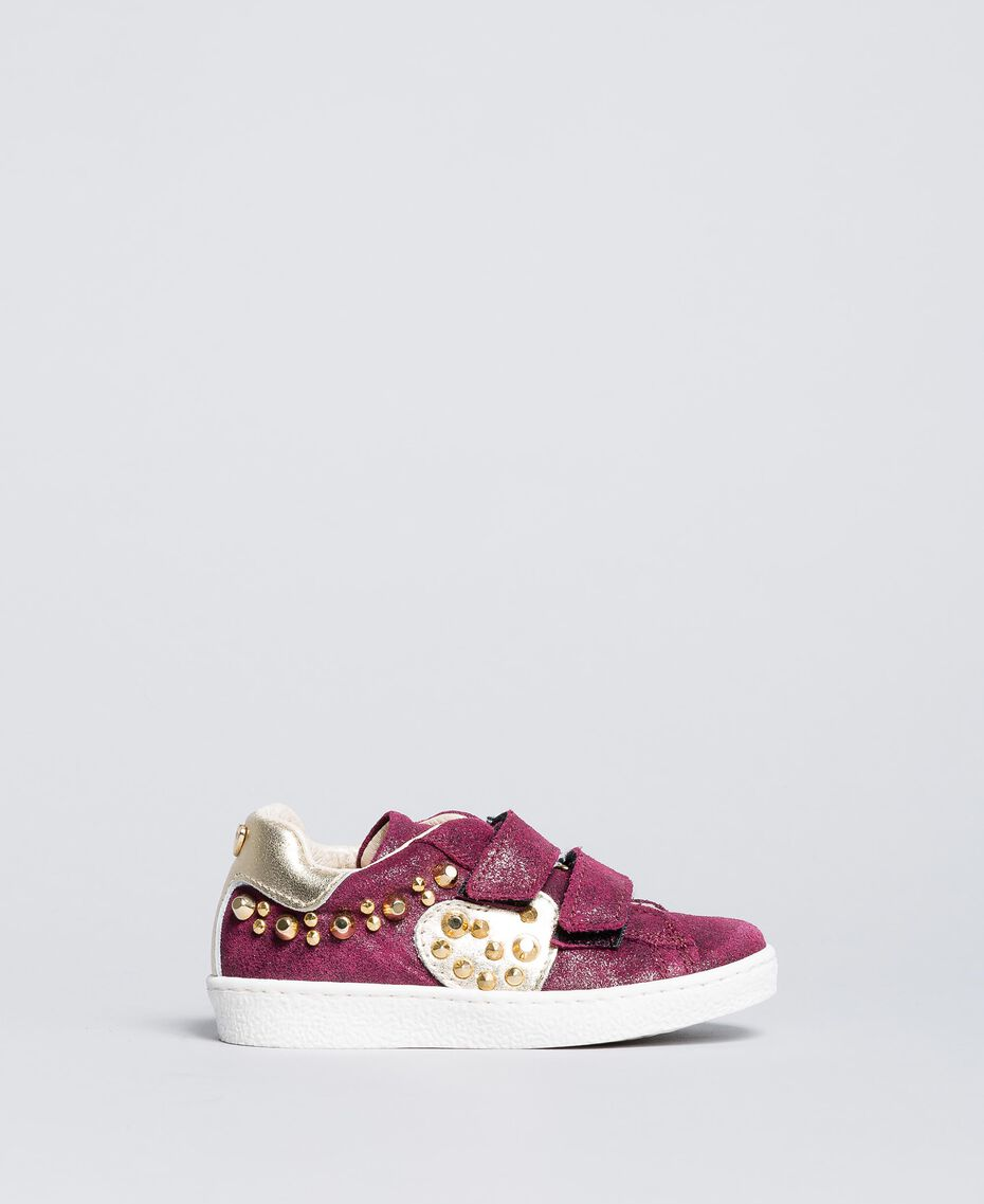 "Sneakers scamosciate con rivetti Viola ""Sweet Grape"" Bambina HA86BQ-02"