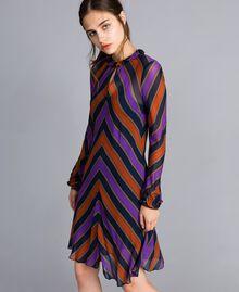Striped georgette dress Multicolour Stripe Print Woman TA8295-02