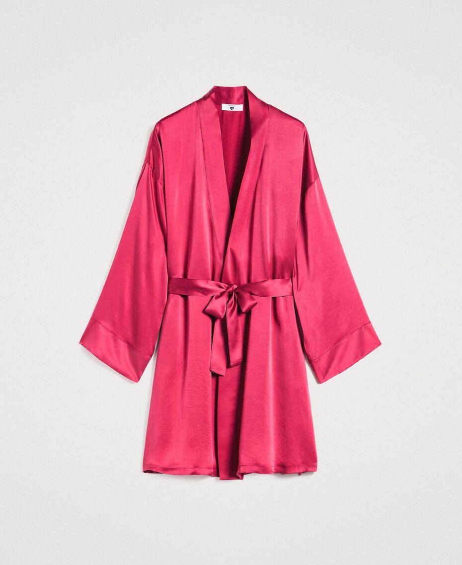 Robe de chambre en satin Bouton De Rose Femme 191LL2DEE-01