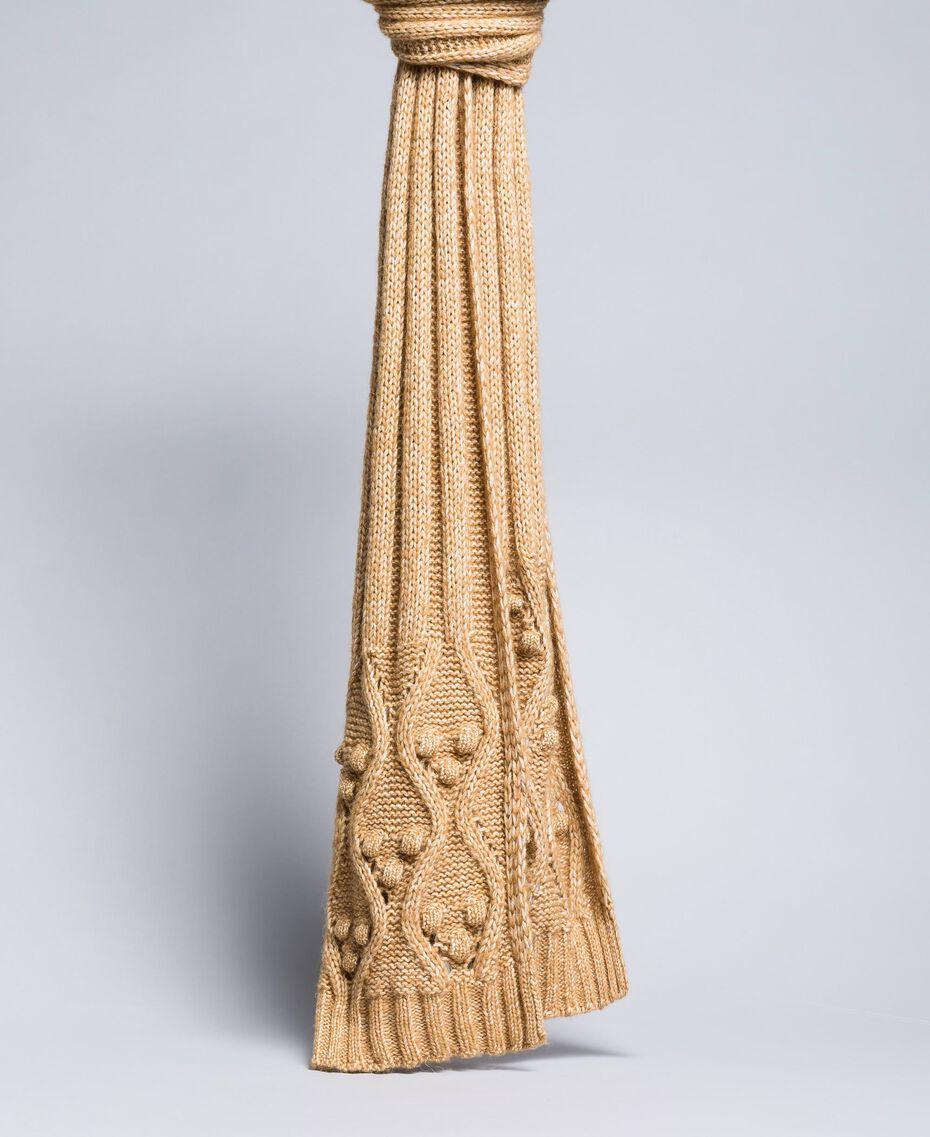 Mélange yarn scarf Camel Woman AA8P1A-01