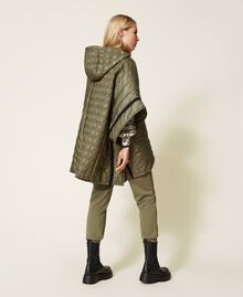 Padded cape with logo Alpine Green Woman 212TP2150-05