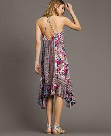 """Robe en mousseline avec imprimé foulard Imprimé Foulard Fuschia """"Rose Psychédélique"""" Femme 191LB2HEE-03"""