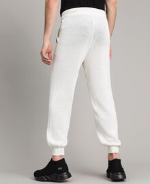 Cotton-blend jogging trousers Matte White Man 191UT3083-02