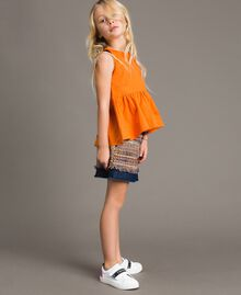 "Top en popeline stretch ""Orange Estivale"" Enfant 191GJ2412-02"