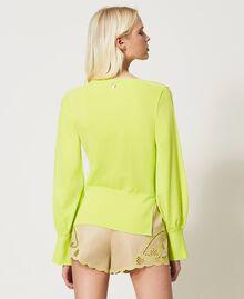 "Jersey sin costuras con mangas amplias Amarillo ""Led"" Mujer 211TT3071-04"