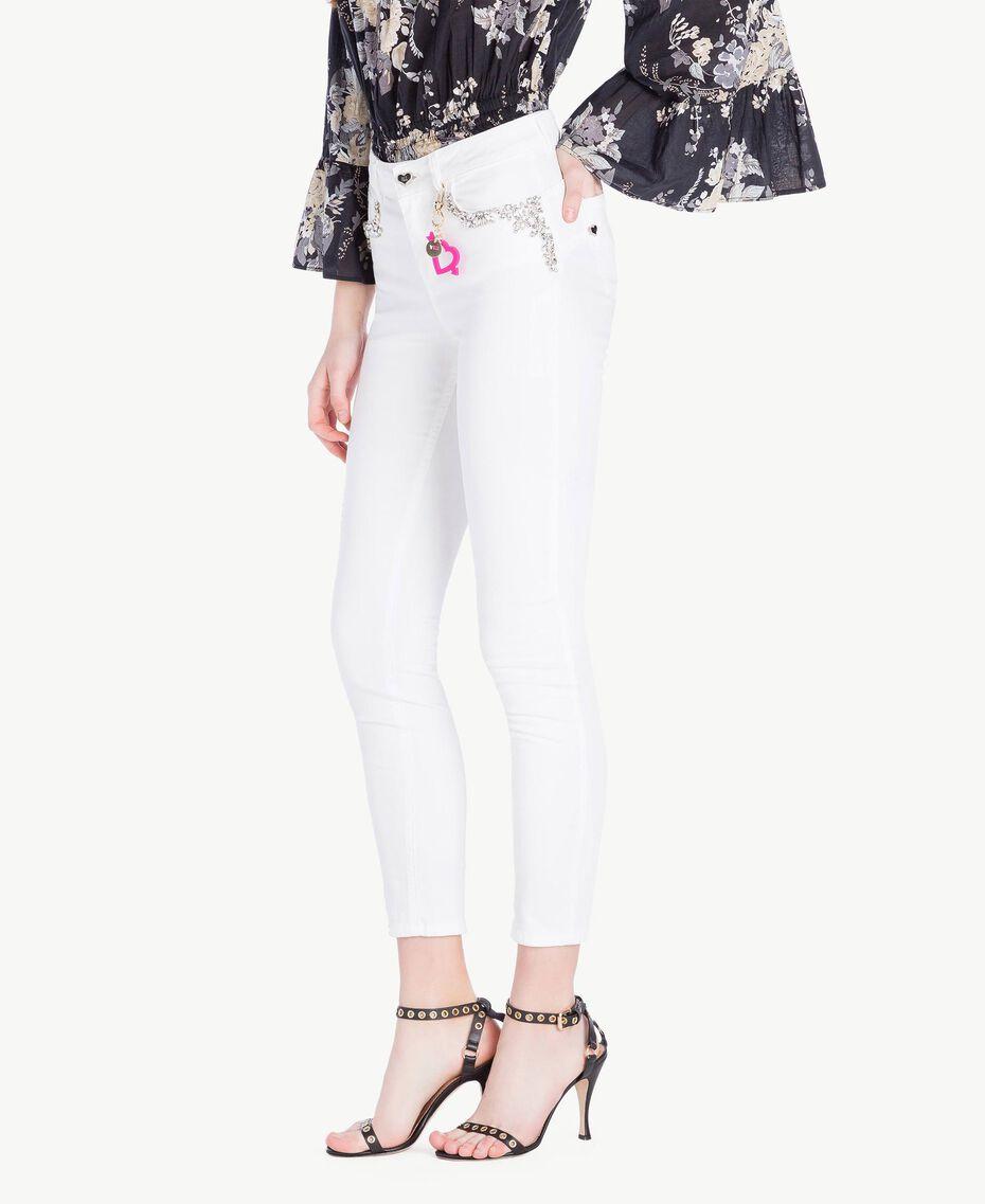 Skinny trousers White Woman YS82ZQ-02