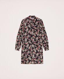 Robe en crêpe de Chine floral Imprimé Floral Rose «Quartz» Femme 201MP2374-0S