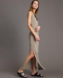 Robe longue en lurex ajouré Noir Femme 191TT3110-02
