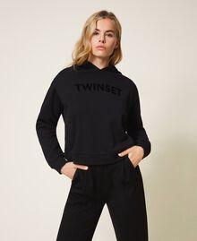 Sweat avec logo brodé assorti Noir Femme 202TT2T57-01
