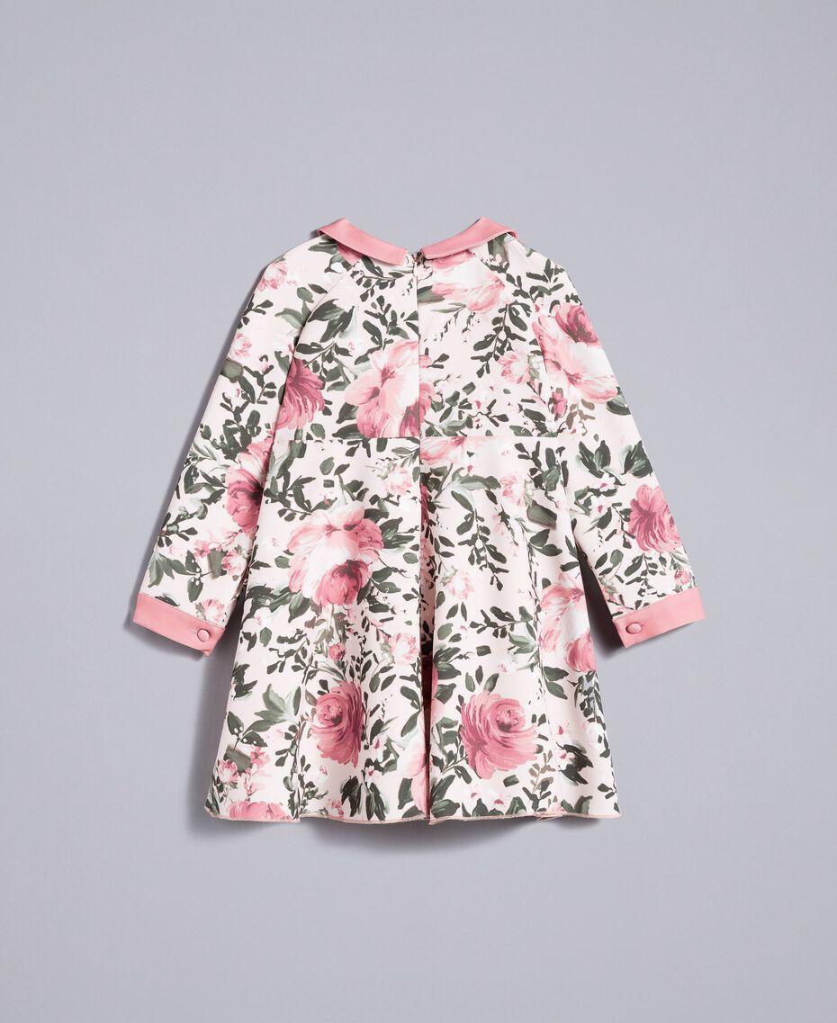 "Printed crêpe dress ""Blush"" Pink with Rose Print Child FA82D1-0S"