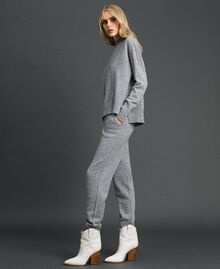 Maglia in lana e cashmere Grigio Mélange Donna 192TT3025-02