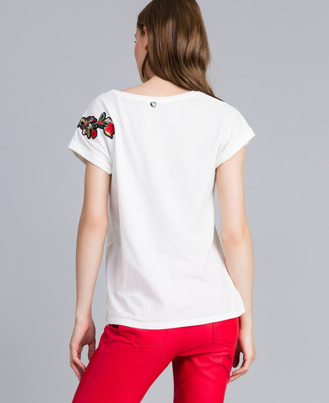 Embroidered t-shirt with appliqués Mother Of Pearl Woman JA82M2-03