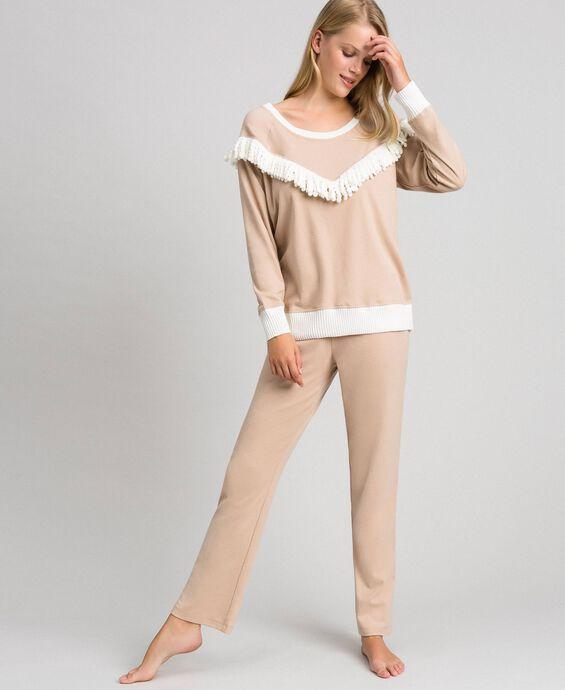Длинная пижама с бахромой
