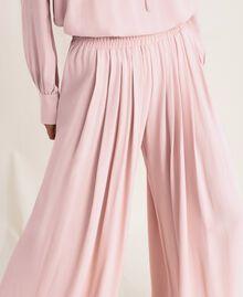 "Georgette palazzo trousers ""Peachskin"" Pink Woman 201LL2NCC-04"
