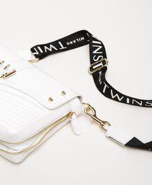 Mittelgroße Rebel Bag mit Logotrageriemen Weiß Schnee Frau 201TO823X-04