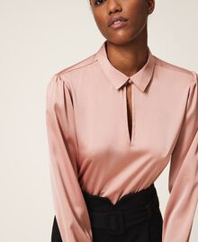 """Two-tone dress with sheath skirt Two-tone Black / """"Vintage"""" Pink Woman 202ST2027-05"""