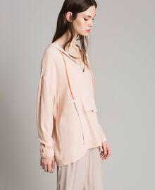 Crêpe sweatshirt with maxi pocket Delicate Pink Woman 191LL23AA-02