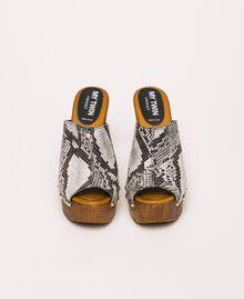 Animal print faux leather sabots White Python Print / Black Woman 201MCT01J-05