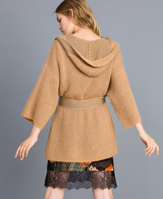 Cardigan en maille lurex Camel Or Femme TA832B-03