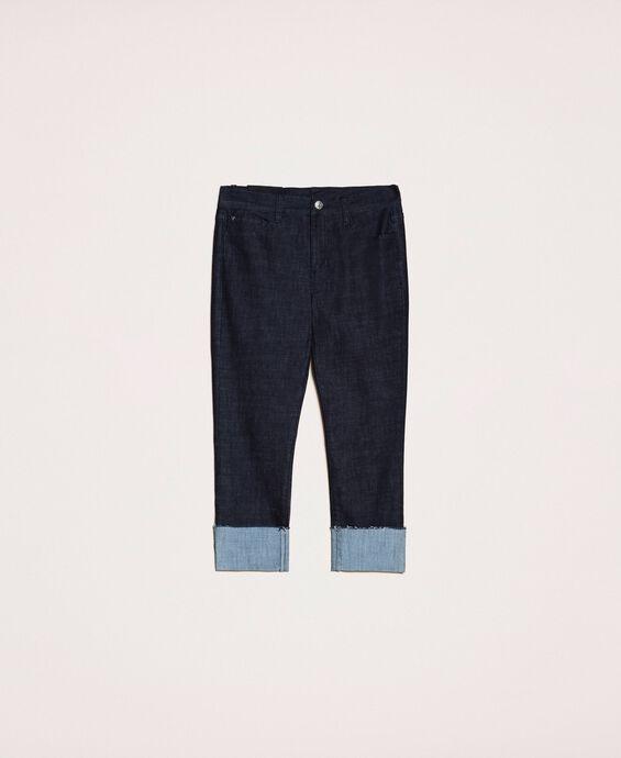 Tomboy-Jeans mit Aufschlag