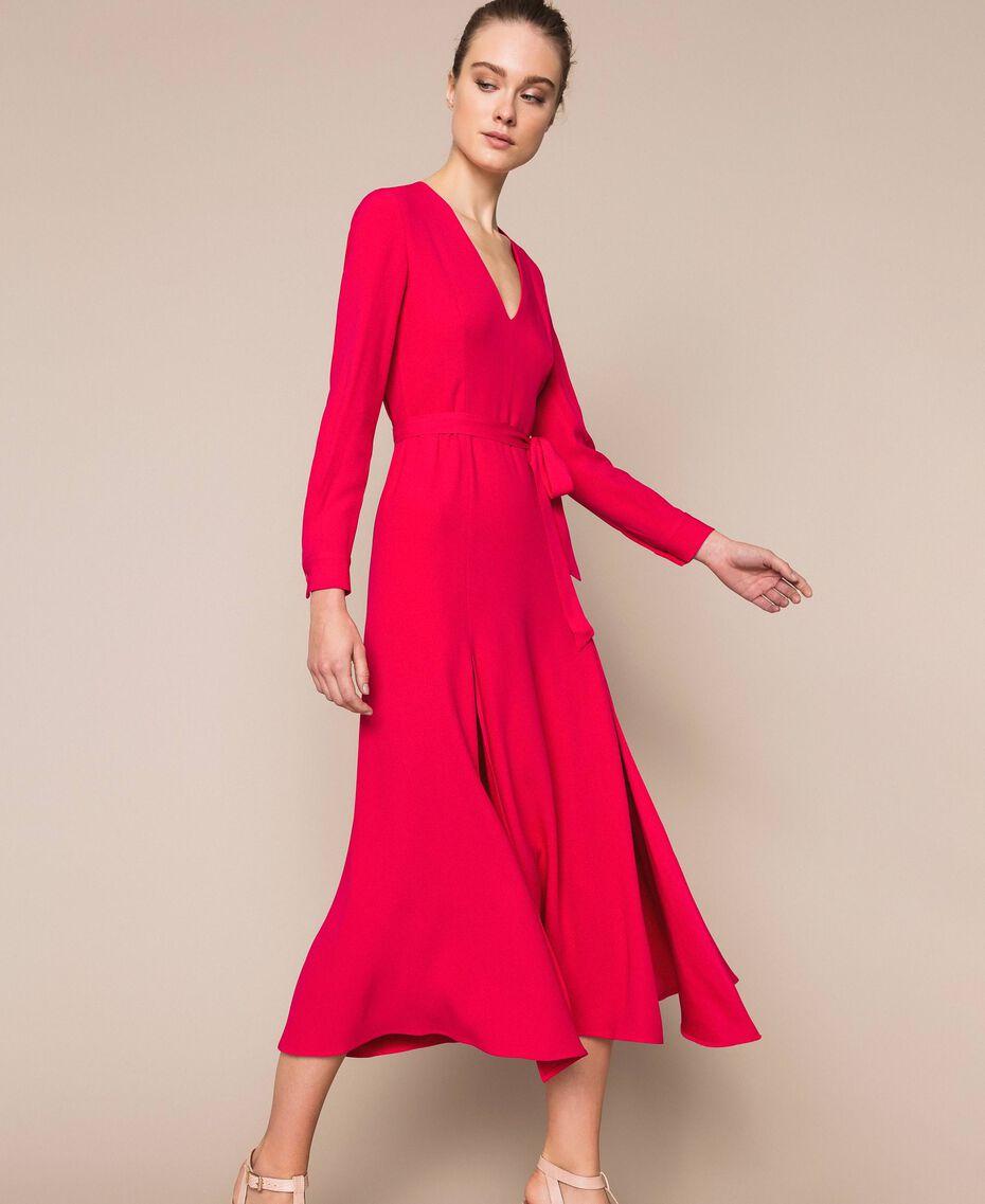 Длинное платье с разрезами Вишня женщина 201TP2433-02