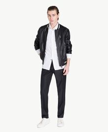 Leather bomber Black Man US82AB-05