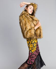 Veste en fausse fourrure Caramel Femme YA82CA-04