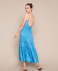 "Skirt-dress with flounces ""Waterfall"" Blue Woman 201LB2BEE-03"