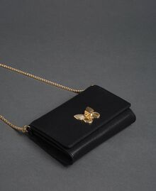 Small shoulder bag with butterfly shaped turn lock Black Woman 192TA7022-02