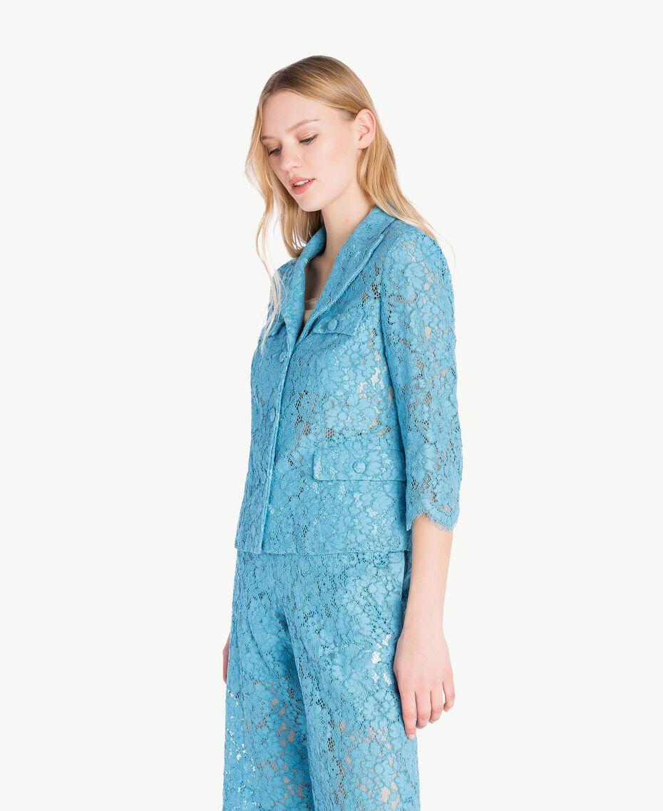 Veste dentelle Bleu d'Orient Femme PS82XH-02