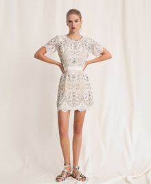 Кружевное платье с вышивками Слоновая кость женщина 201TP2462-0T