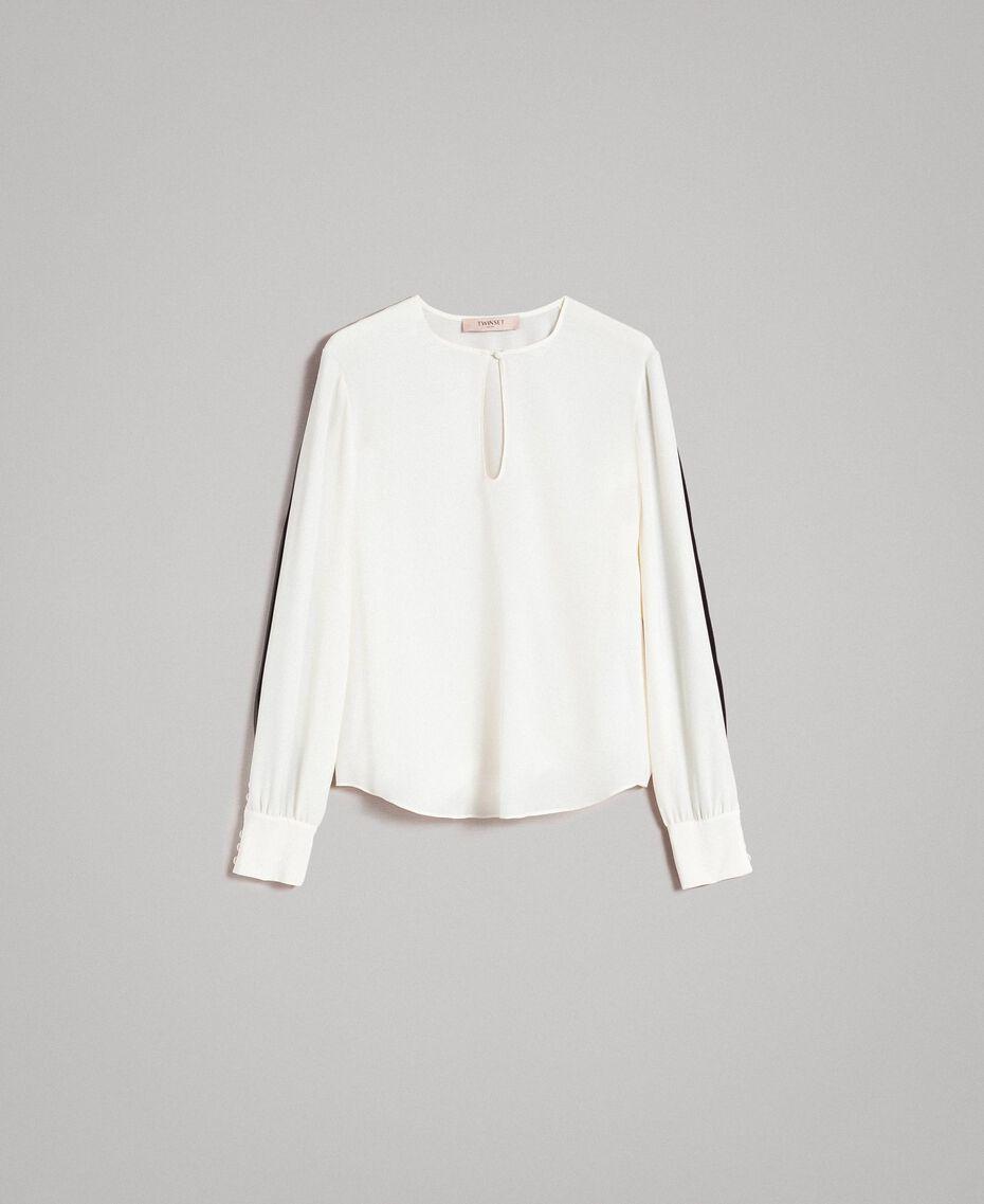 Blouse en soie mélangée Blanc Neige Femme 191TP2141-0S