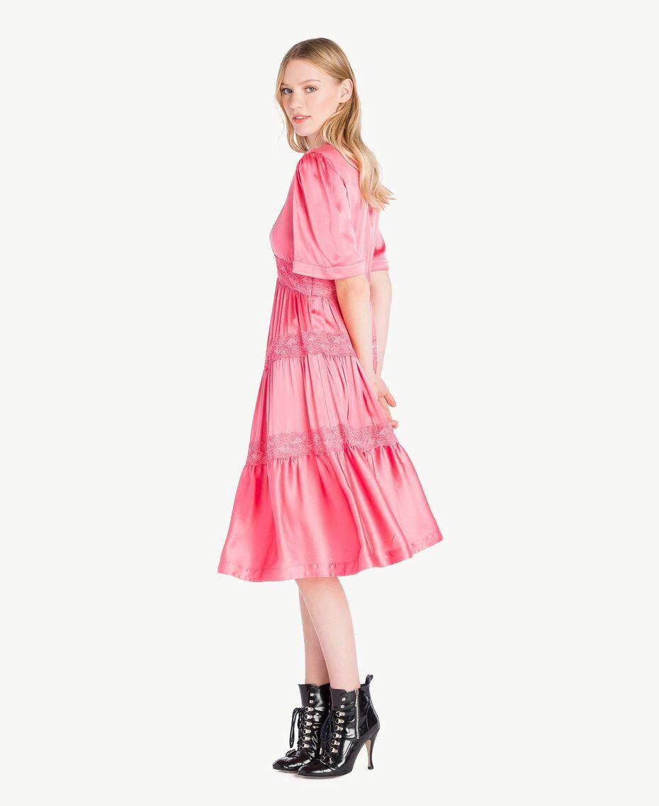 """Silk dress """"Doll"""" Fuchsia Woman PS825B-02"""
