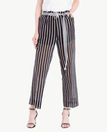 Pantalon imprimé Imprimé Patch Rayure Femme TS82ZN-02
