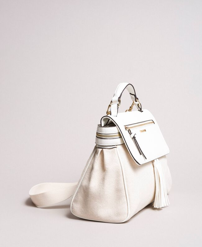 Canvas Cécile bag White Snow Woman 191TO8184-01