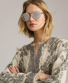 Runde Sonnenbrille Schwarz Frau 999TZ4011-0S