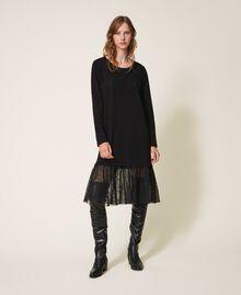 Long dress with tulle Black Woman 202LI2NLL-01