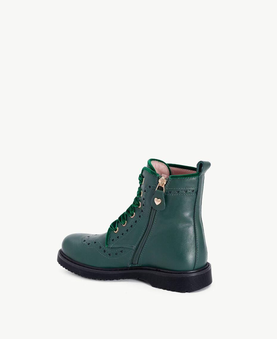 Boots cuir nappa Vert Anglais HA78AN-03