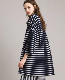 Unlined striped coat Off White / Blue Shadow Striping Woman 191ST2030-02
