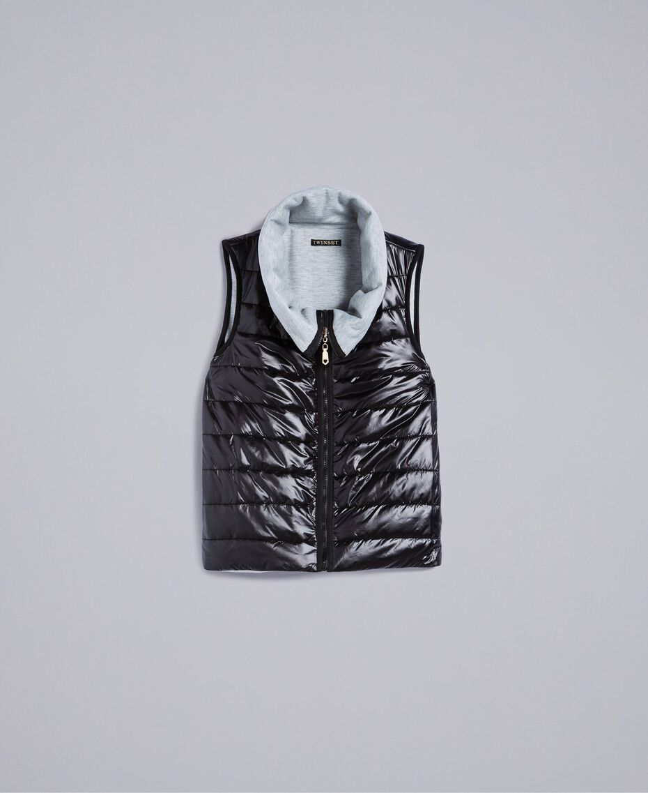Reversible quilted gilet Black Woman IA85QQ-0S