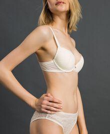 Culotte en dentelle et tulle Ivoire Femme 192LL6C66-02