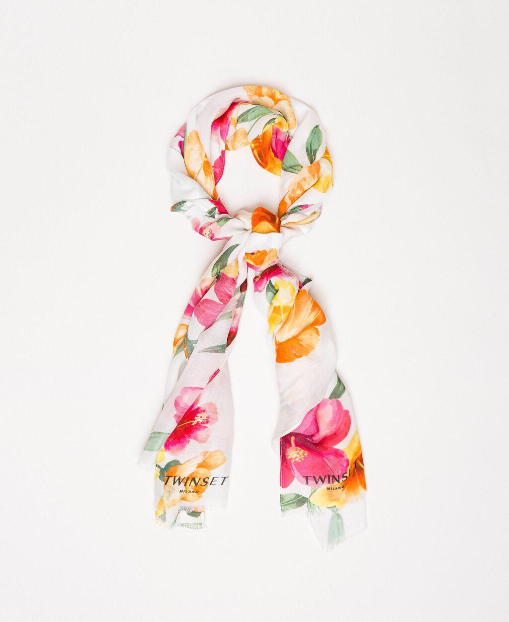 Étole avec imprimé floral