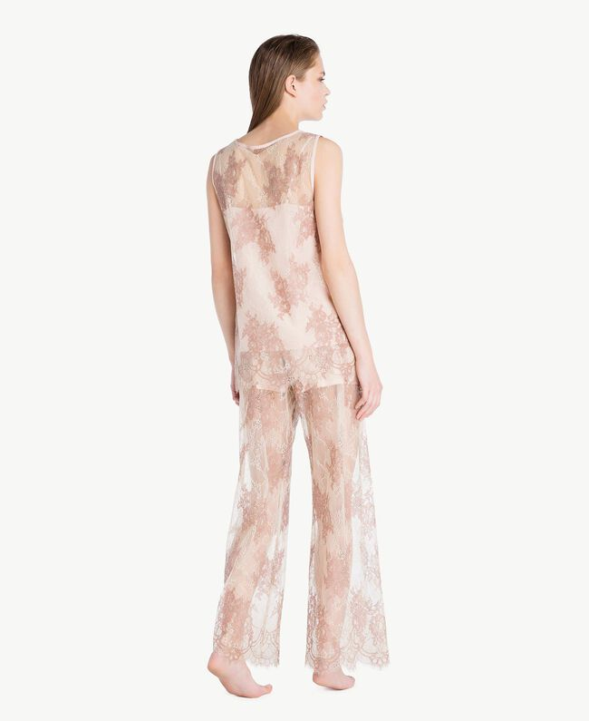 "Lace trousers ""Dusty Cream"" Beige Lace Woman LS8FEE-04"