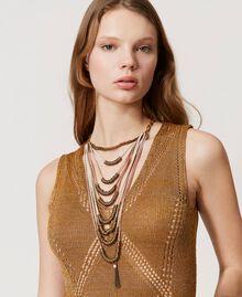 Collier multirang avec perles en métal Multicolore Rubans Laiton Vieilli Femme 211TO501G-0S