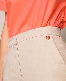 Linen blend trousers Nougat Beige Woman 201TT2216-05